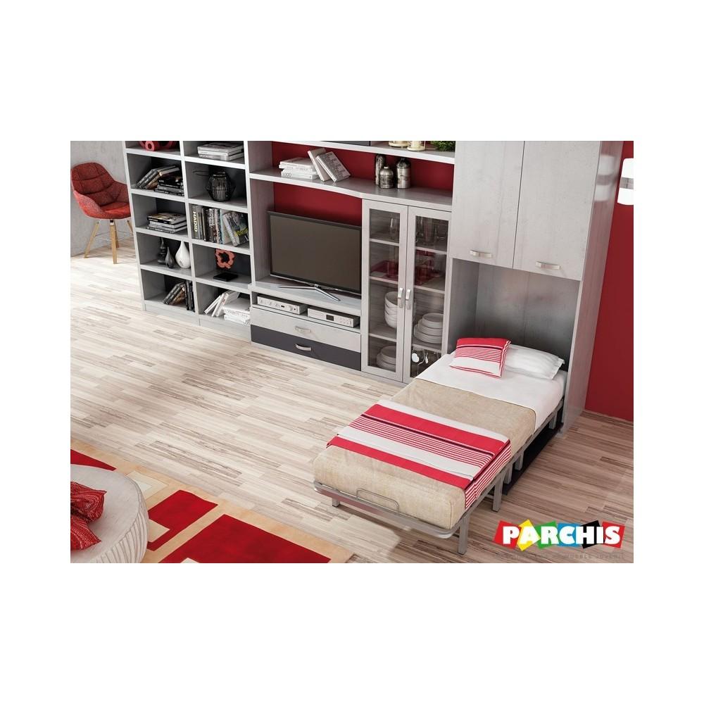 muebles juveniles para salones modernos con camas plegables