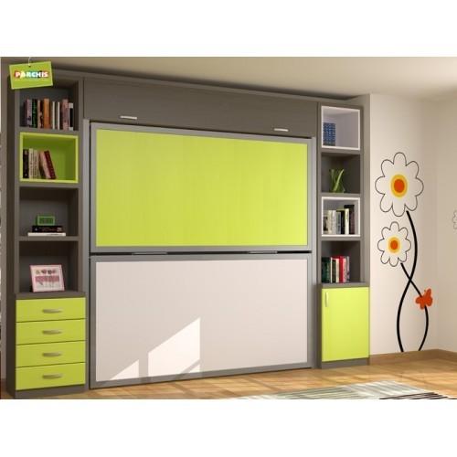 Literas met licas plegables horizontales muebles for Diseno de dormitorios juveniles