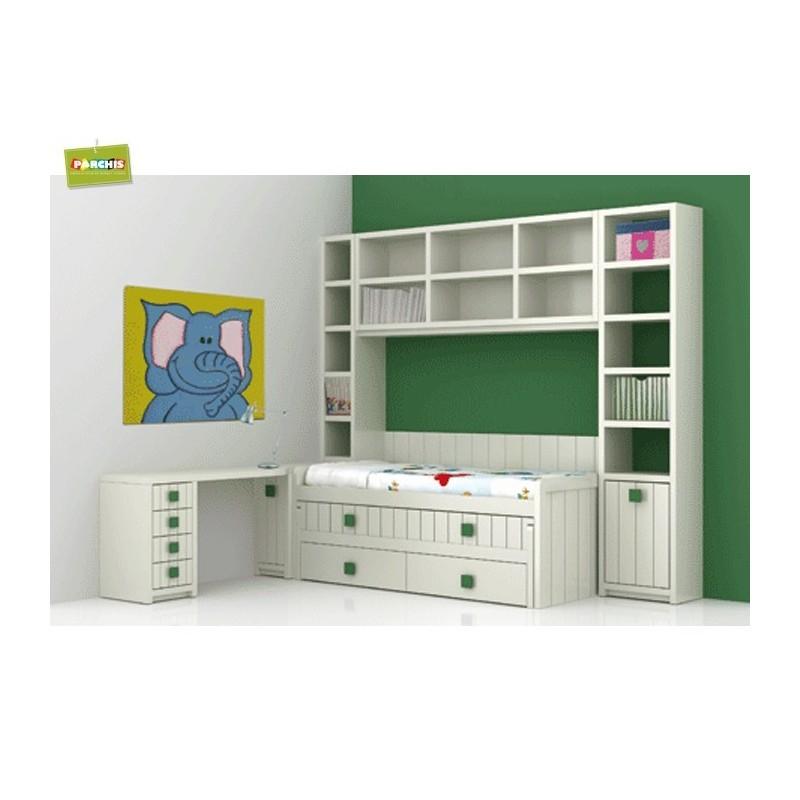 Dormitorio lacado blanco en madrid 28 for Dormitorios juveniles con cama grande