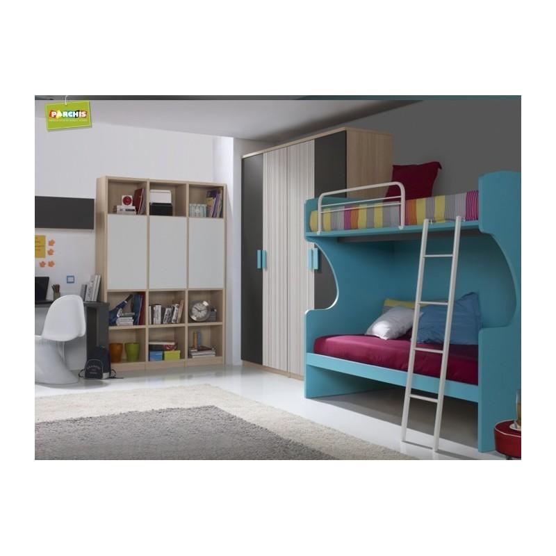 Habitacionesjuvenilesconliteras muebles literas fijas literascondoscamas - Habitaciones juveniles literas ...
