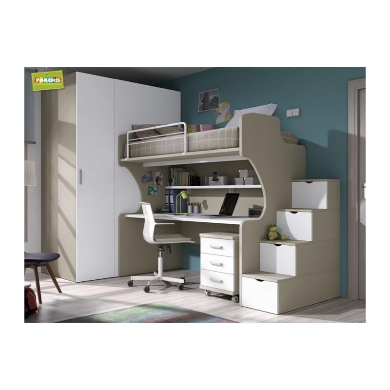 Mobiliarioamedida mueblesliterasfijas for Dormitorios juveniles con cama grande