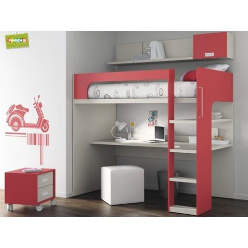 Dormitorios con literas fijas for Muebles modulares juveniles
