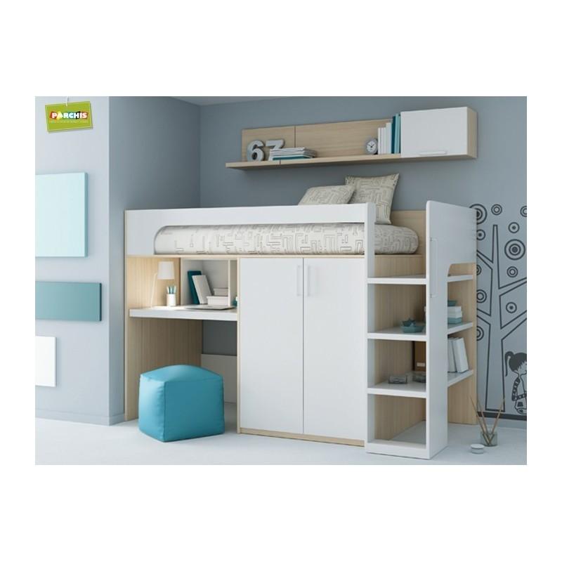 Como amueblar un dormitorio peque o con cama armario y for Dormitorios individuales