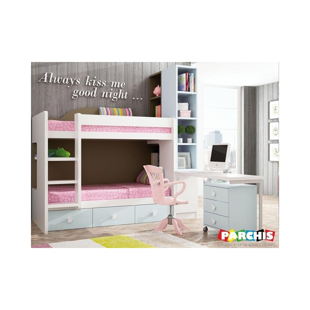 Amueblar el dormitorio de tus ni os con literas es un acierto for Como ubicar muebles en espacios pequenos