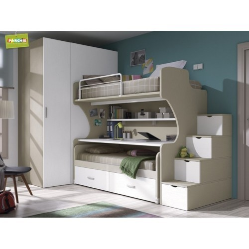 Literastriplesfijas literascontrescamas literasconcamasaltas - Dormitorios modulares juveniles ...