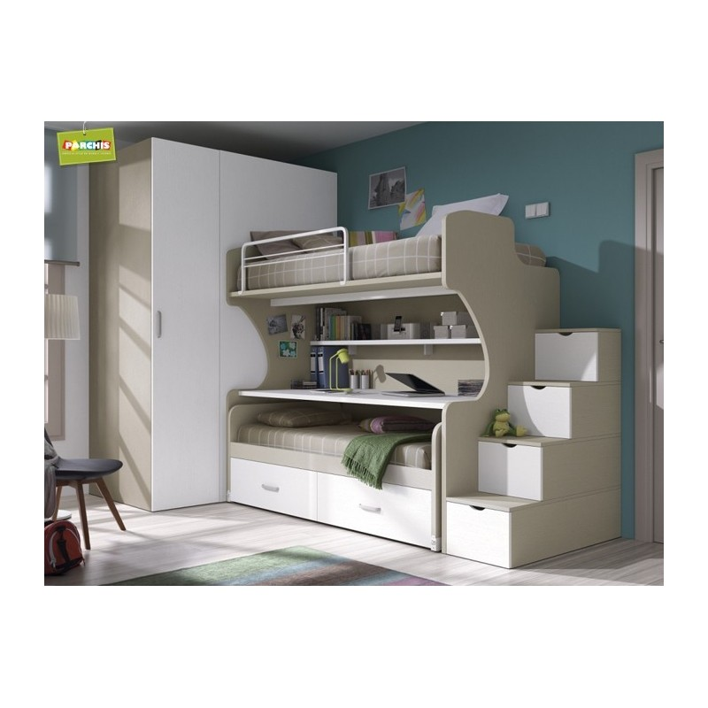 Donde comprar literas fijas en madrid ver modelos de - Habitaciones modulares juveniles ...