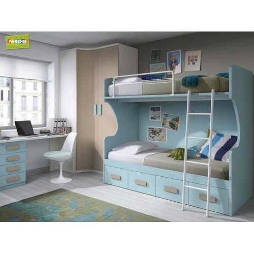 10- Dormitorios infantiles con literas fijas en Leganes