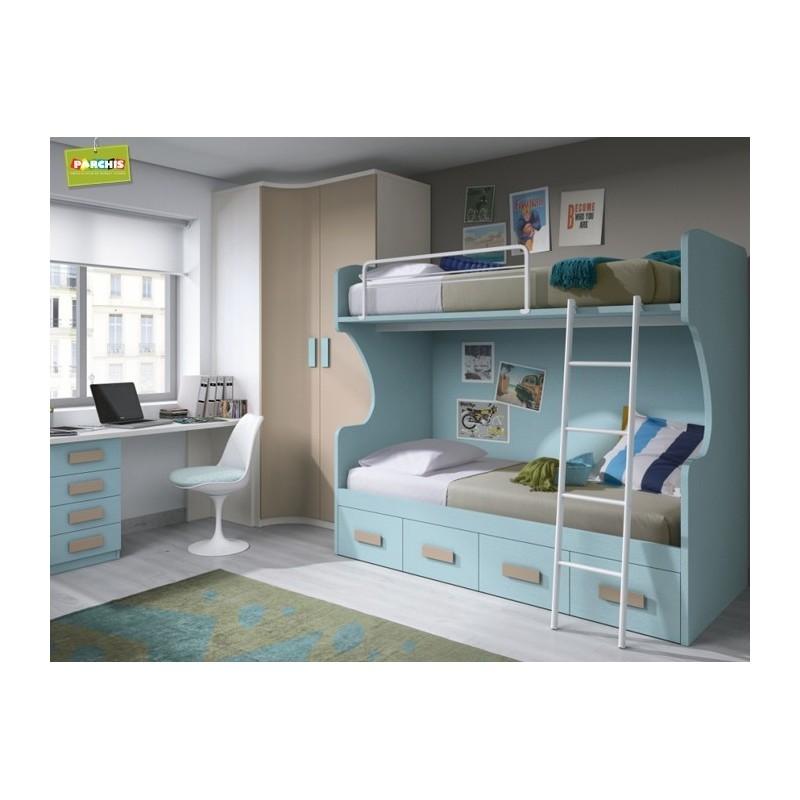 Donde ver muebles infantiles con literas fijas en madrid - Dormitorios infantiles dobles ...