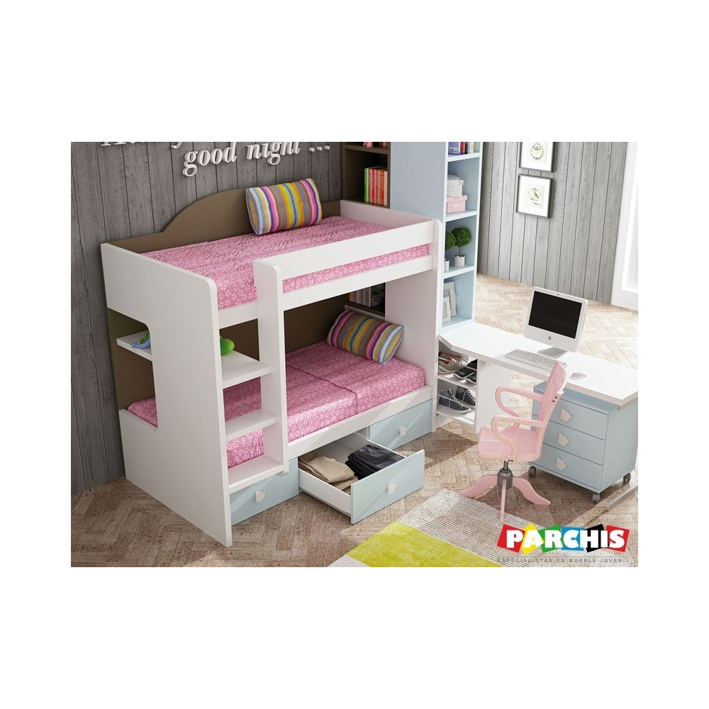 muebles literas fijas juveniles para espacios reducidos with muebles funcionales para espacios reducidos