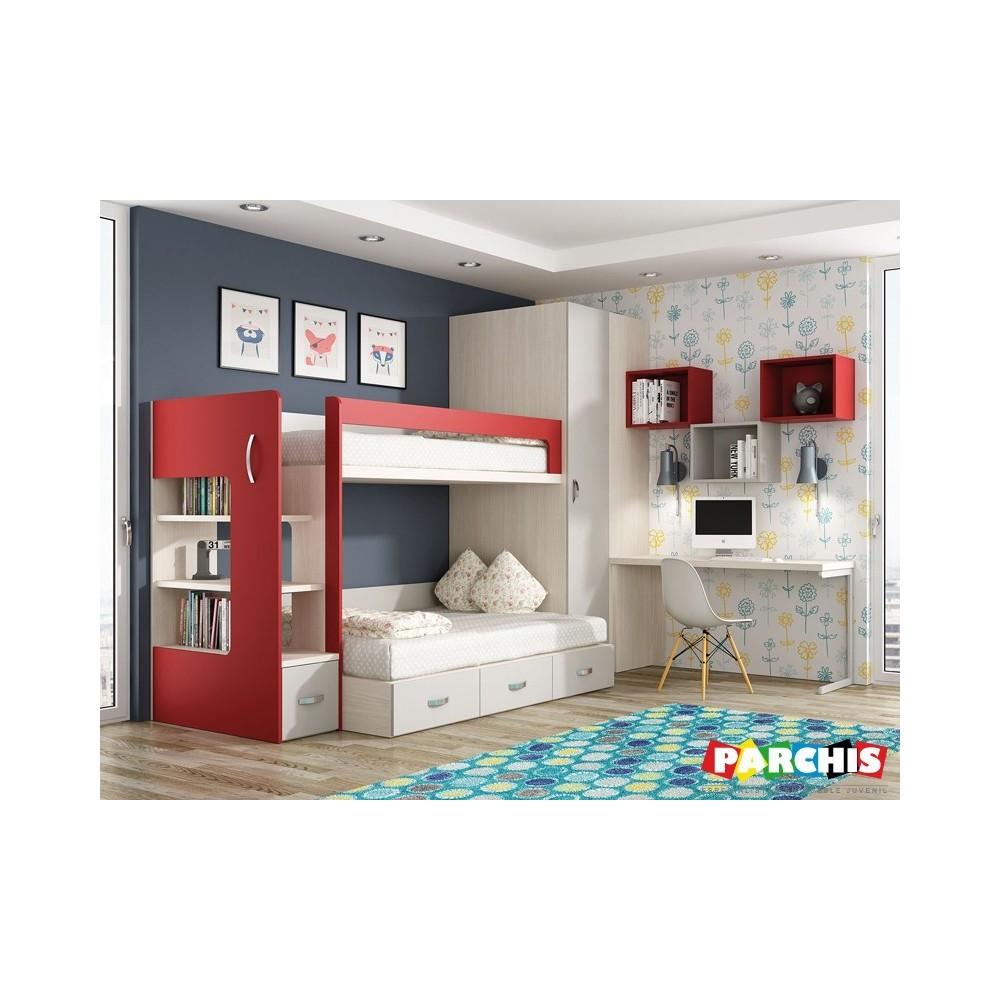 Muebles juveniles literas con camas de 135x190 - Literas madrid ...