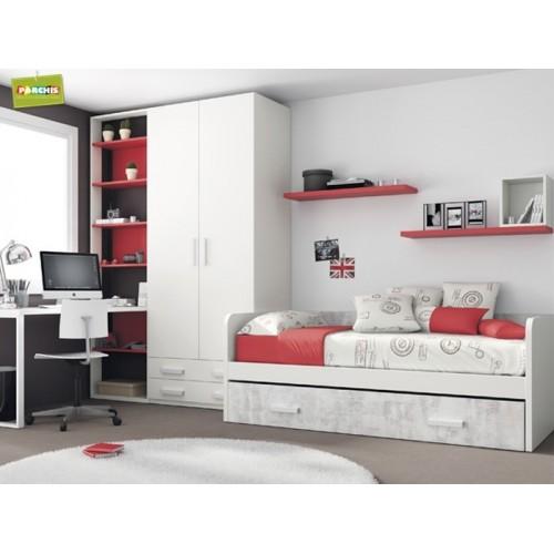 Dormitorio Cama Nido Rojo
