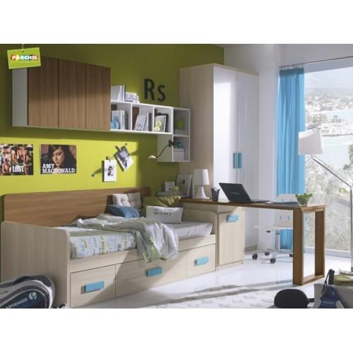 Dormitorio Cama Nido Azul