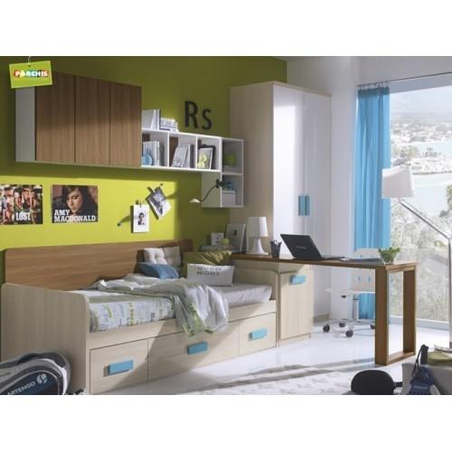 Dormitorios infantiles con camas nido doble camas nido bajas for Dormitorios juveniles cama nido doble