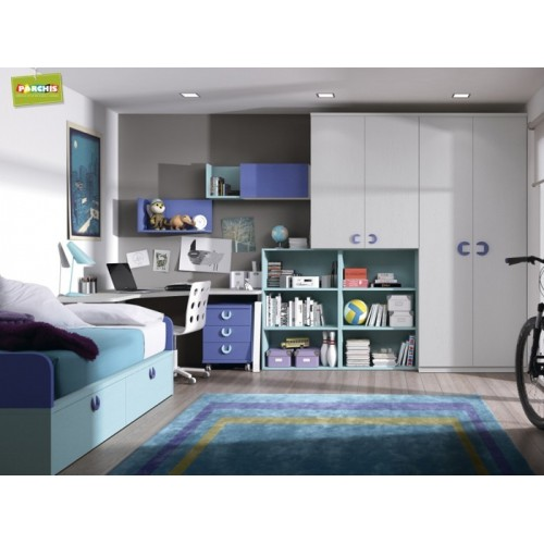 Dormitorio Cama Nido Blue Royal