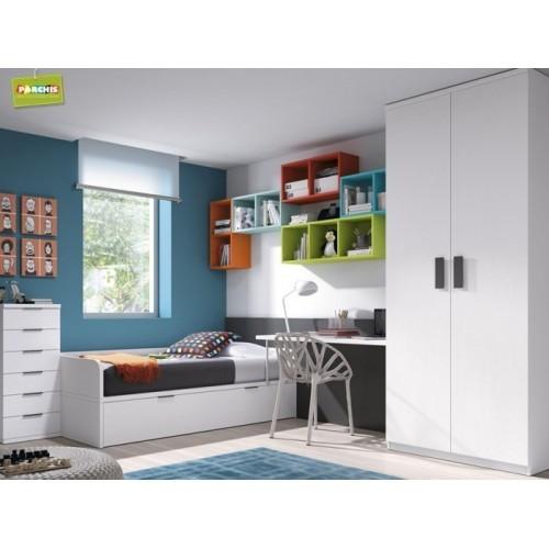 Dormitorio Cama Nido Blanco Roto
