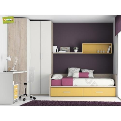 Dormitorios infantiles con camas nido doble camas nido bajas for Camas para habitaciones juveniles