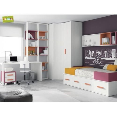 Dormitorios infantiles con camas nido doble camas nido bajas for Camas nido infantiles