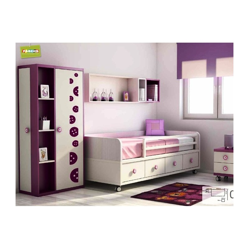 Ideas de muebles infantiles con camas nido como decorar for Muebles para dormitorios reducidos