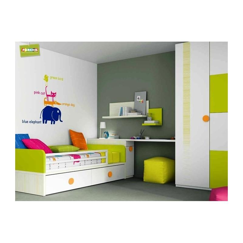 Dormitorio infantil doble habitacin infantil con - Dormitorios infantiles dobles ...