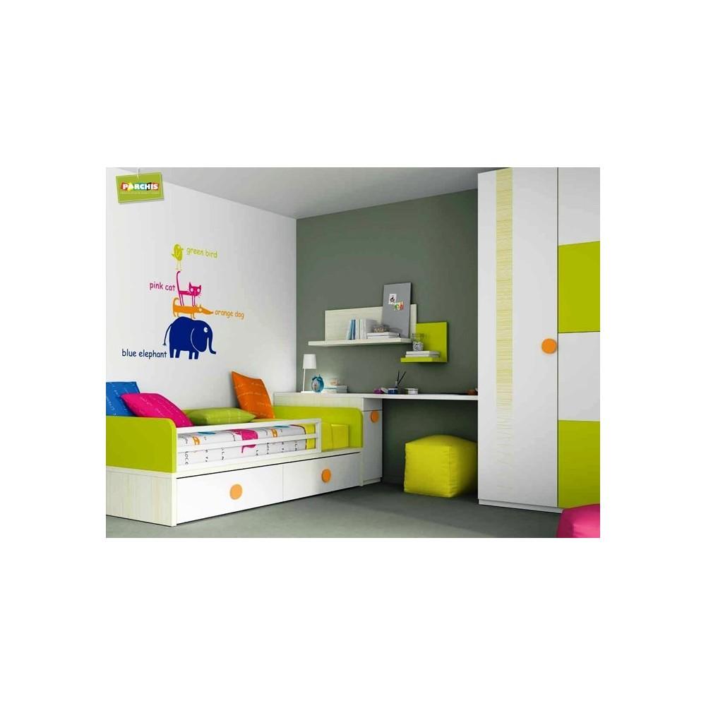 Camas dobles infantiles ideas de disenos for Dormitorios juveniles cama nido doble