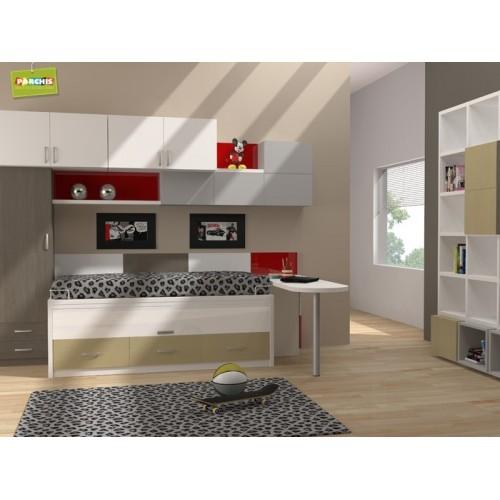 Dormitorios con camas compactas dormitorios individuales for Muebles briole dormitorios juveniles