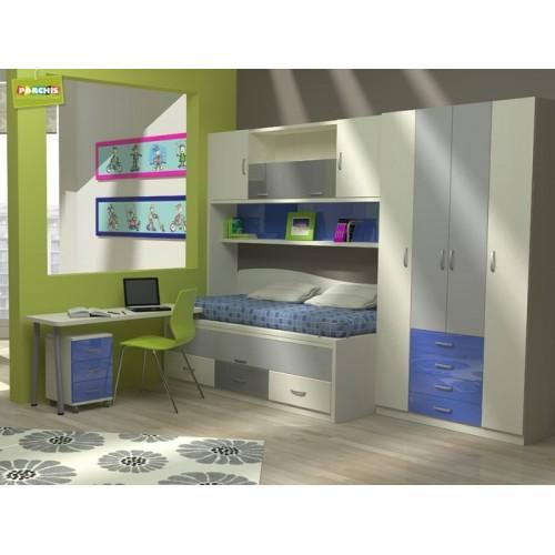 Dormitorios con camas compactas dormitorios individuales - Dormitorios juveniles en madrid ...