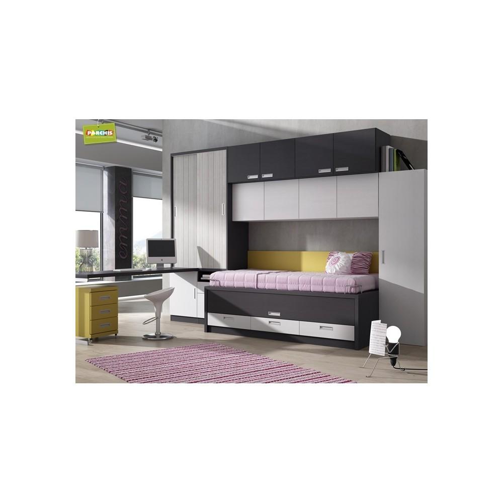 Dormitorio dos camas el dormitorio de los nios con dos - Dormitorios juveniles de dos camas separadas ...