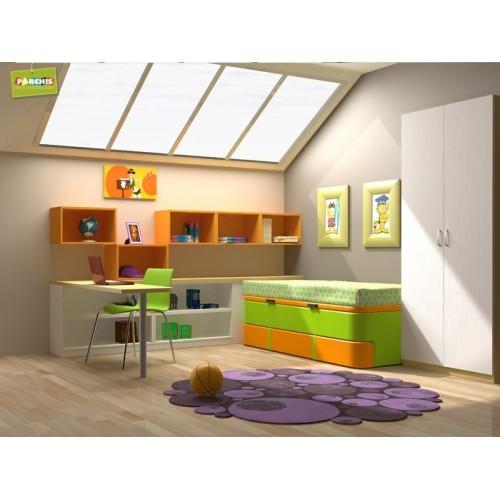 Dormitorios con camas compactas dormitorios individuales - Dormitorios dobles juveniles ...