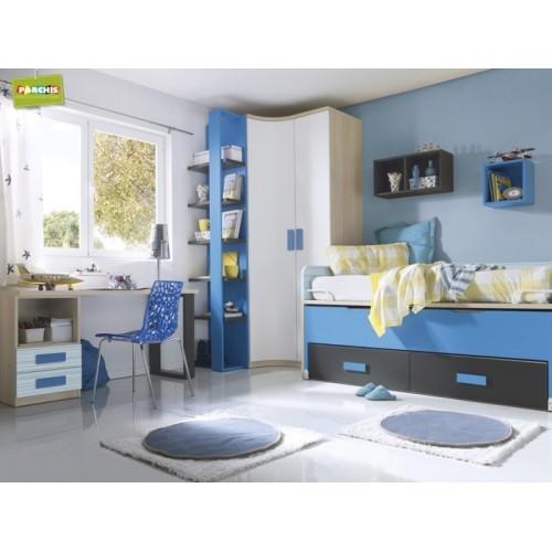 Dormitorios con camas compactas dormitorios individuales for Camas compactas precios