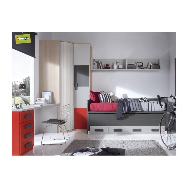 Amueblar habitaciones juveniles con camas compactas - Camas dobles infantiles para espacios reducidos ...