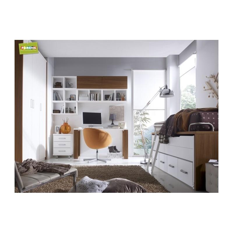 Juveniles compactas perfect cama abatible doble con for Camas en alto juveniles