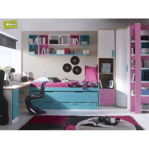 Dormitorios con camas compactas dormitorios individuales 2 - Camas para chicas ...