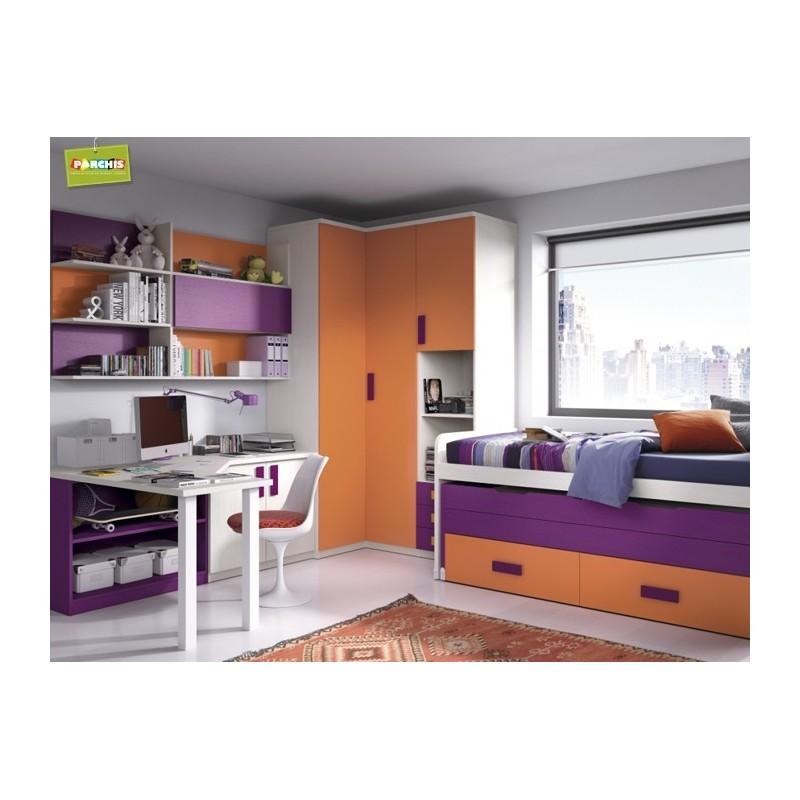 Muebles juveniles modulares comprar muebles camas - Camas muebles abatibles ...