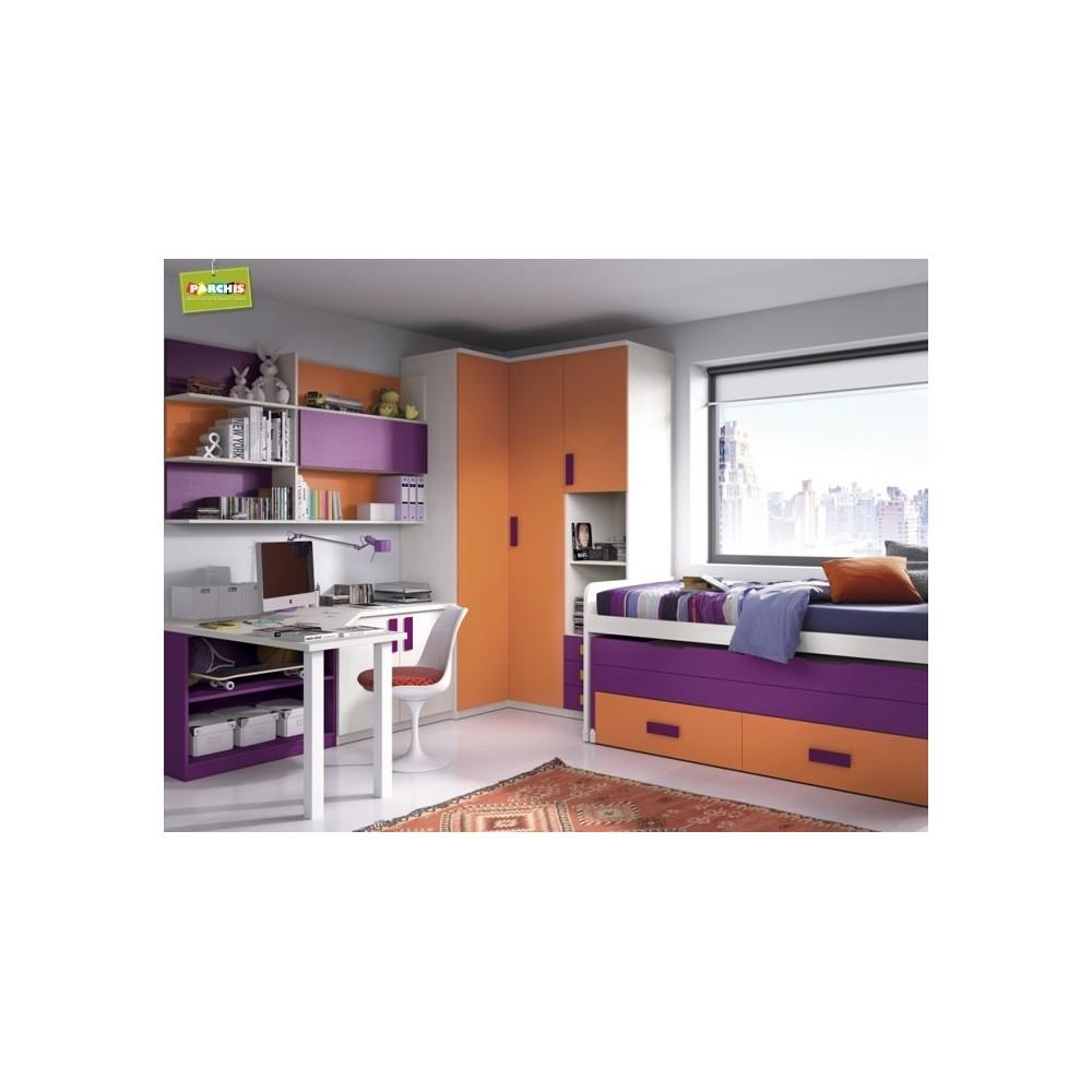 Muebles juveniles modulares comprar muebles camas for Camas abatibles juveniles