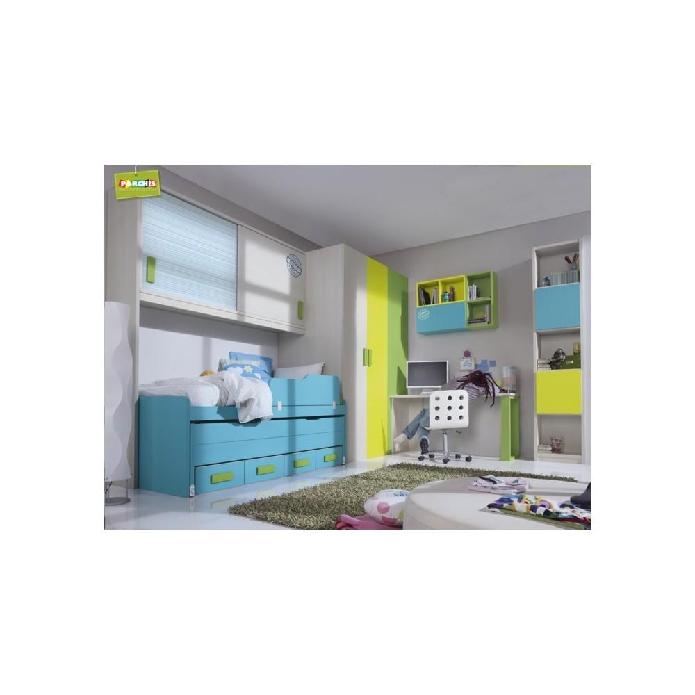 Dormitorio juvenil para chicos muebles en madrid - Habitaciones juveniles con cama abatible ...