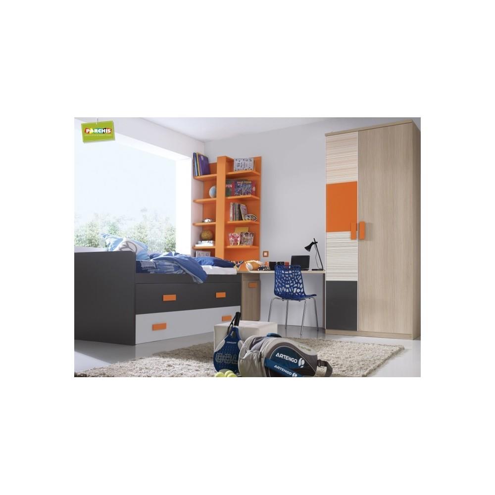 Muebles compactos con cama doble muebles para chicos - Muebles para restaurar madrid ...