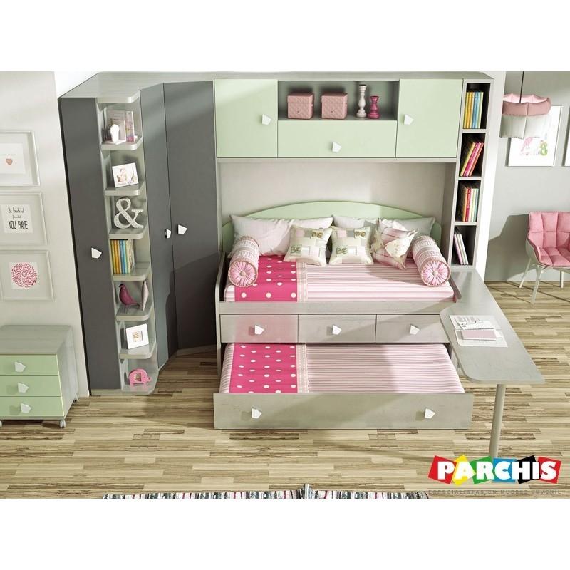 Muebles juveniles con camas compactas dobles para chicos for Donde comprar muebles en madrid