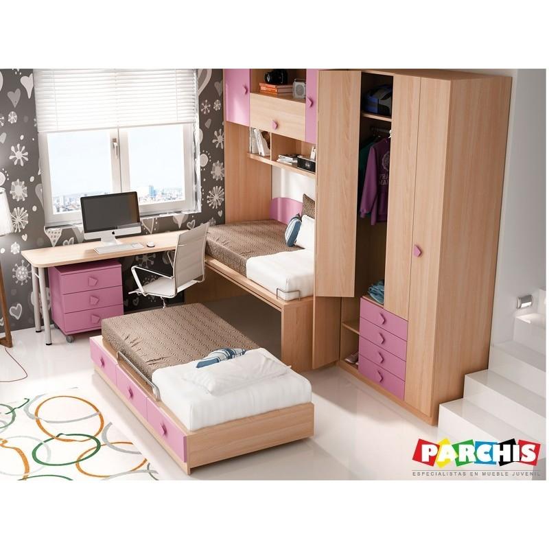 20- Muebles compactos juveniles para chicas y chicos adolescentes