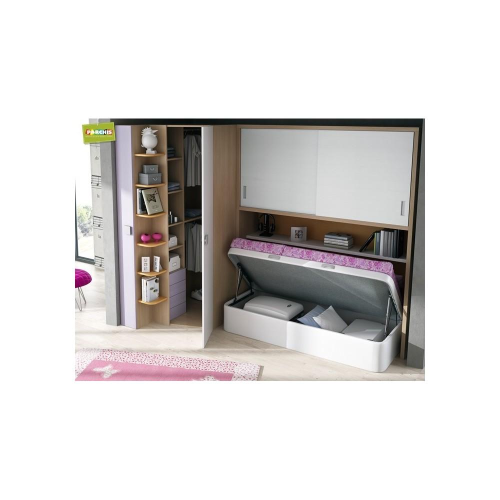 Camas individuales de 90 venta camas en madrid for Habitaciones juveniles con cama grande