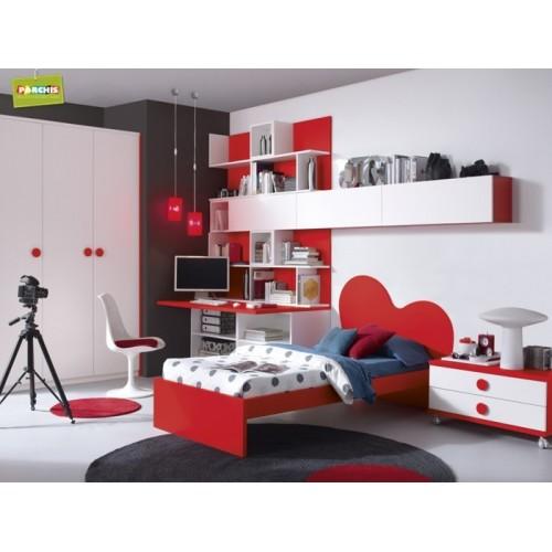 Dormitorios con camas individuales habitaciones juveniles - Dormitorio juvenil nino ...