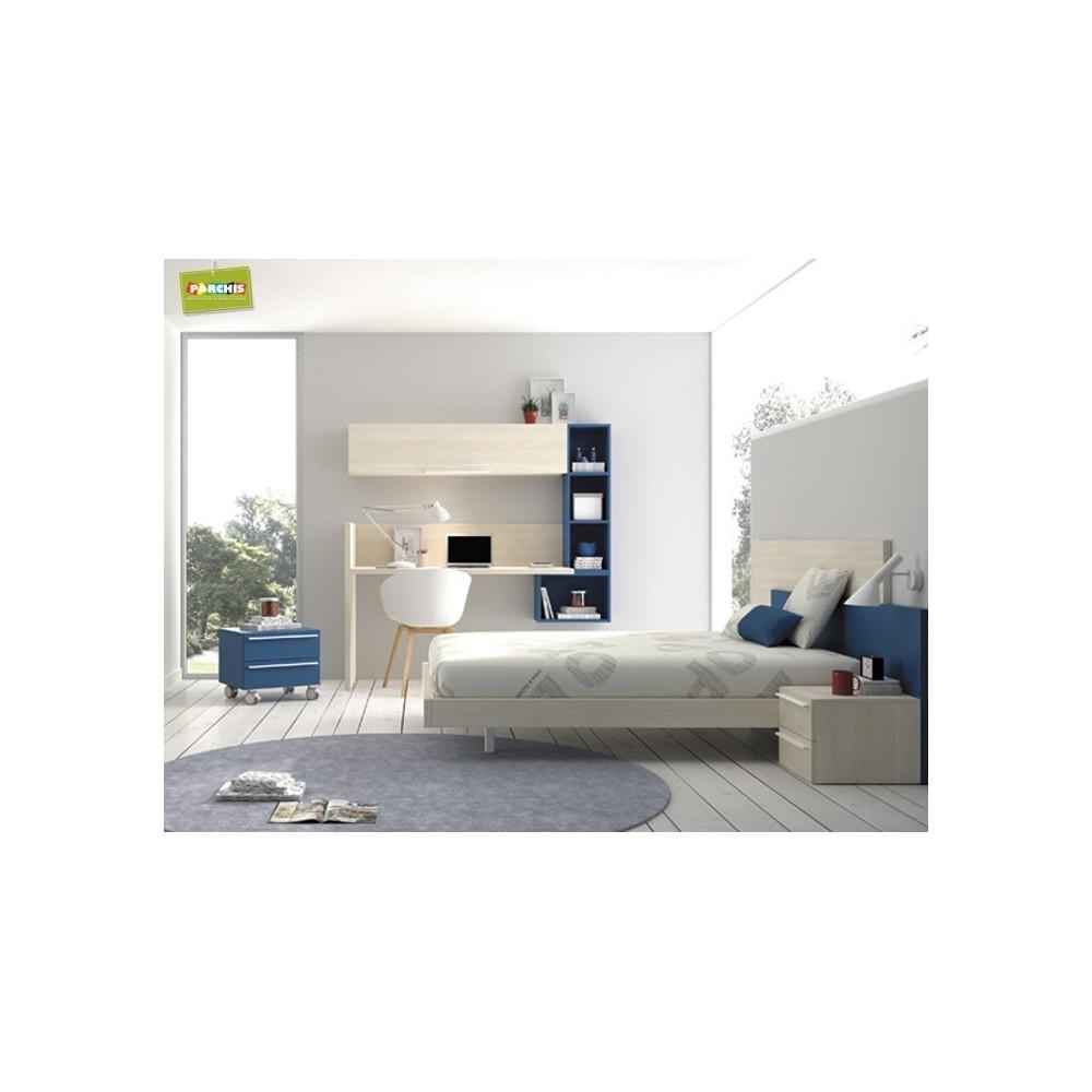 Habitaciones juveniles en madrid catalogo de dormitorios for Dormitorios juveniles con cama grande