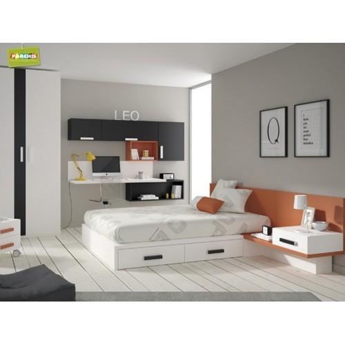 Dormitorios con camas individuales habitaciones juveniles 2 - Cama individual juvenil ...