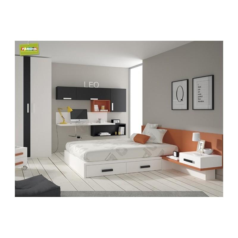 Iedasdormitoriosjuvenilesconcamasgrandes proyectosdedecoracion - Habitaciones juveniles muebles tuco ...