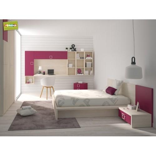 Dormitorios con camas individuales habitaciones - Camas para chicas ...