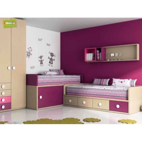 Dormitorios con camas tren aprovecha al m ximo el espacio - Literas tipo tren medidas ...