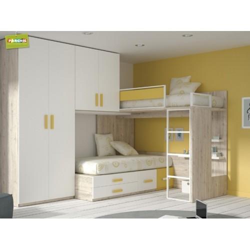 Dormitorios con camas tren aprovecha al m ximo el espacio - Camas tren para ninos ...