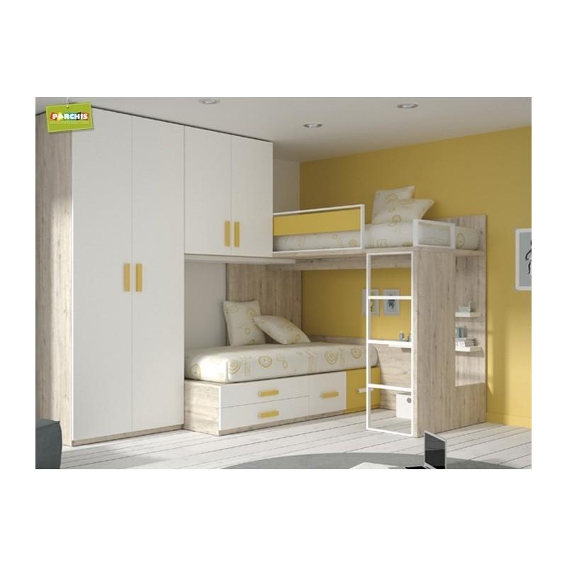 Camas tipo tren literas fijas mueblesliterasfijas - Dormitorios infantiles dobles ...