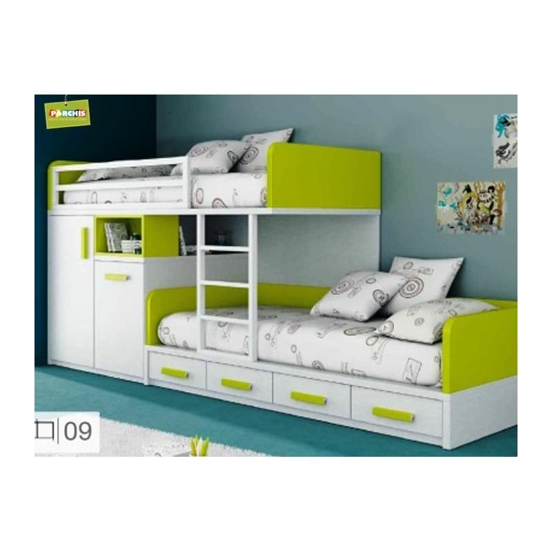 Literas fijas camas bloque - Habitaciones juveniles tipo tren ...