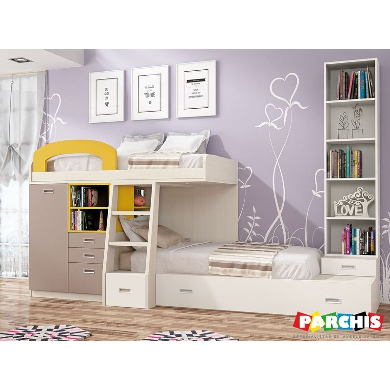 Donde comprar camas tren en madrid dormitorios con dos camas - Literas con armario incorporado ...