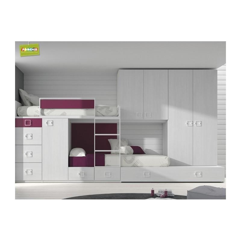 Muebles cama literas fijas en madrid mueblesbloque madridmuebles literas - Habitaciones juveniles literas ...